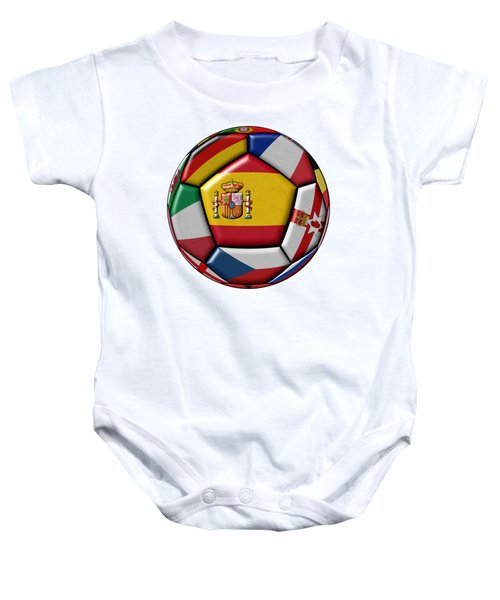 Ball With Flag Of Spain In The Center Baby Onesie