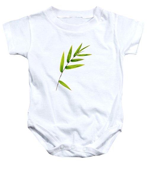 Bamboo Leaves Baby Onesie