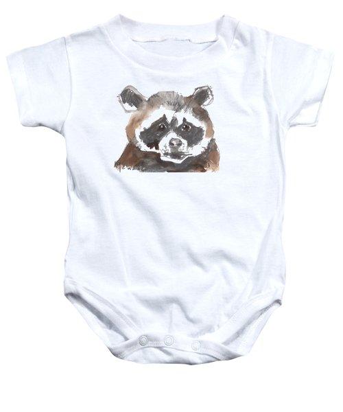 Bandit Raccoon Baby Onesie by Kathleen McElwaine