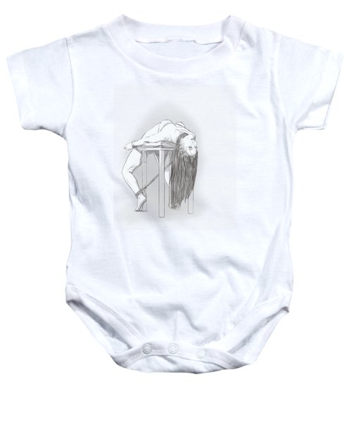 Baby Onesie featuring the mixed media Bar Chair Bw by TortureLord Art