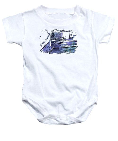 Barbara Berry Blues 3 Dimensional Baby Onesie