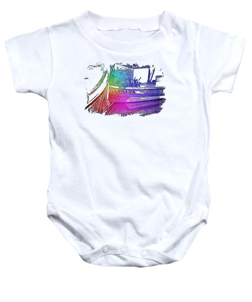 Barbara Cool Rainbow 3 Dimensional Baby Onesie
