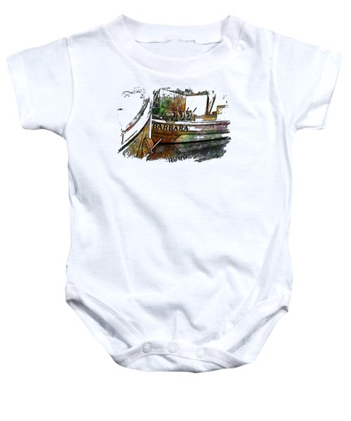 Barbara Muted Rainbow 3 Dimensional Baby Onesie