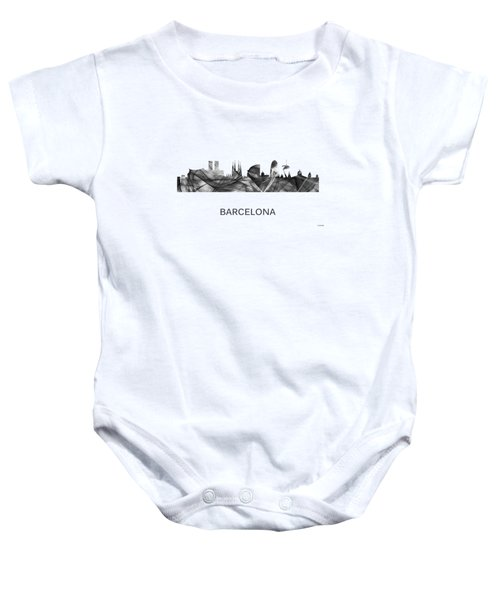 Barcelona Spain Skyline Baby Onesie
