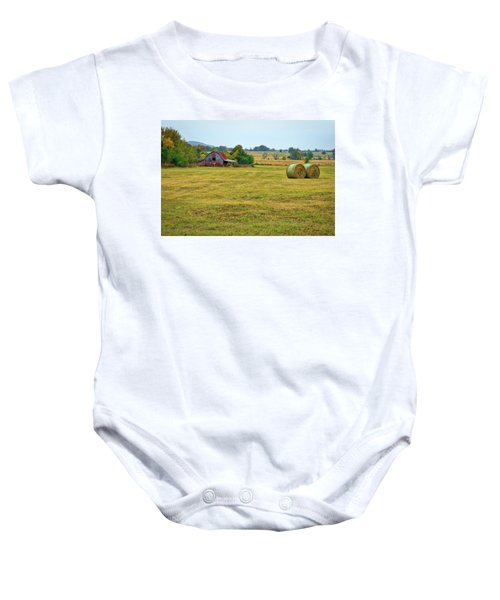 Barn And Field Baby Onesie