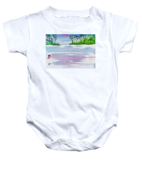 Gum Trees Frame The Sunset At Barnes Bay Baby Onesie