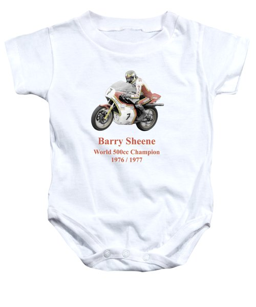 Barry Sheene 2, The Hand Tinted Version Baby Onesie