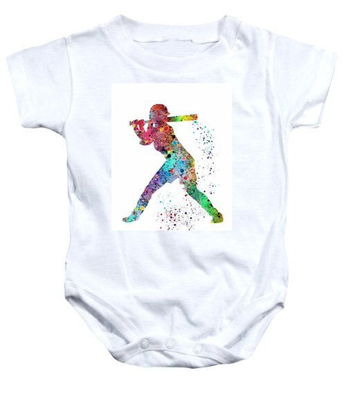 Baseball Softball Player Baby Onesie