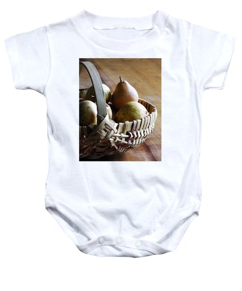 Basket And Pears Baby Onesie