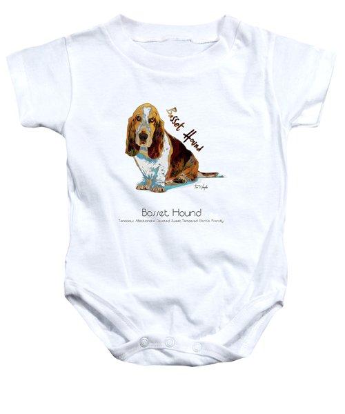 Basset Hound Pop Art Baby Onesie