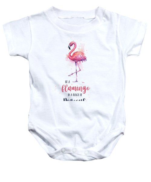 Be A Flamingo Baby Onesie