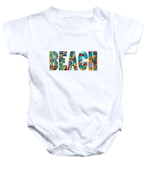 Beach Art - Beachy Keen - By Sharon Cummings Baby Onesie by Sharon Cummings