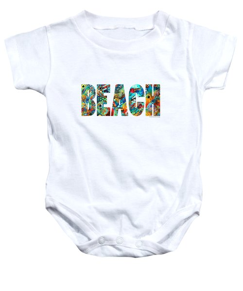 Beach Art - Beachy Keen - By Sharon Cummings Baby Onesie