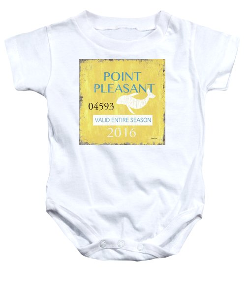 Beach Badge Point Pleasant Baby Onesie