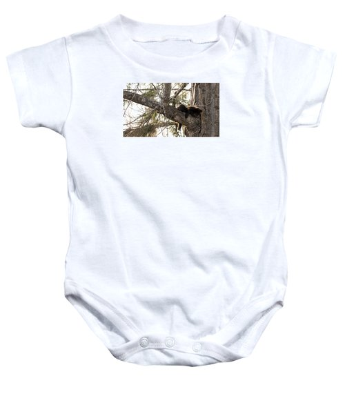 Bearly Hanging In There Baby Onesie