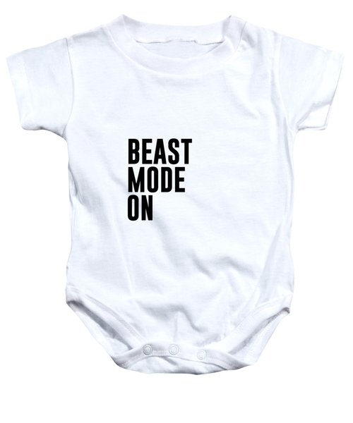 Beast Mode On - Gym Quotes 1 - Minimalist Print - Typography - Quote Poster Baby Onesie