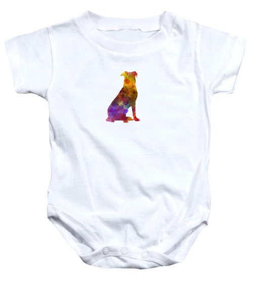 Beauceron In Watercolor Baby Onesie