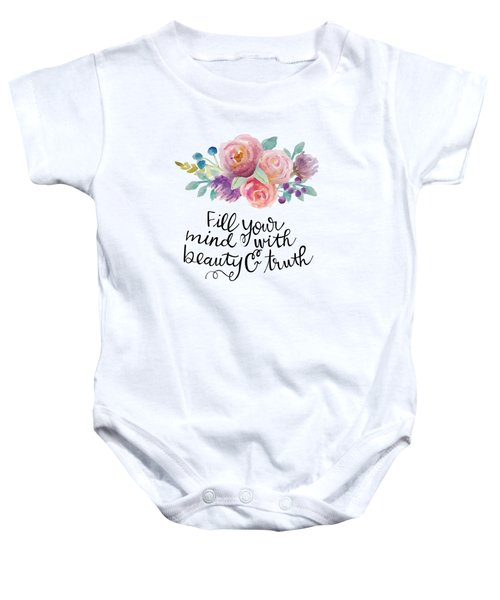 Beauty And Truth Baby Onesie