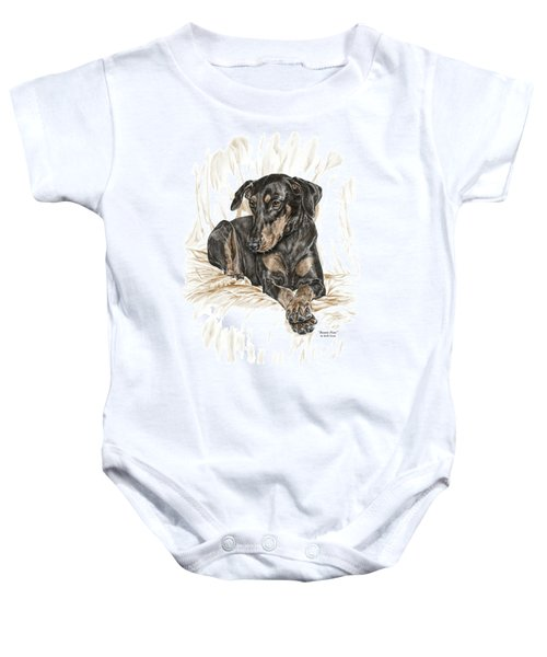 Beauty Pose - Doberman Pinscher Dog With Natural Ears Baby Onesie