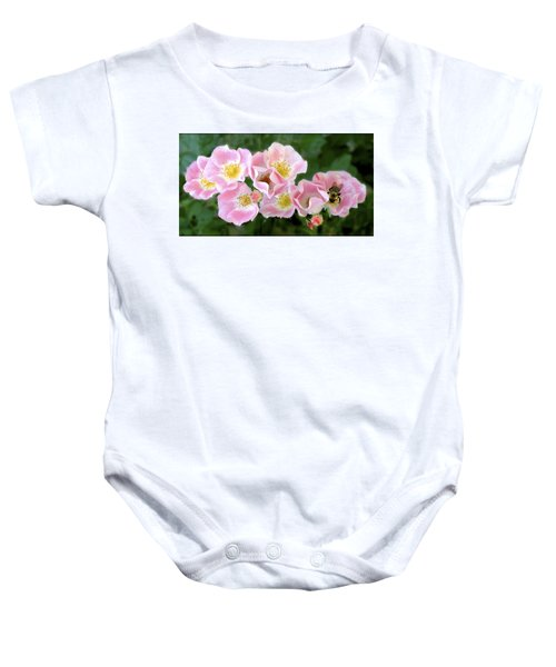 Bee And Roses Baby Onesie