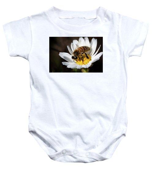 Bee On The Flower Baby Onesie