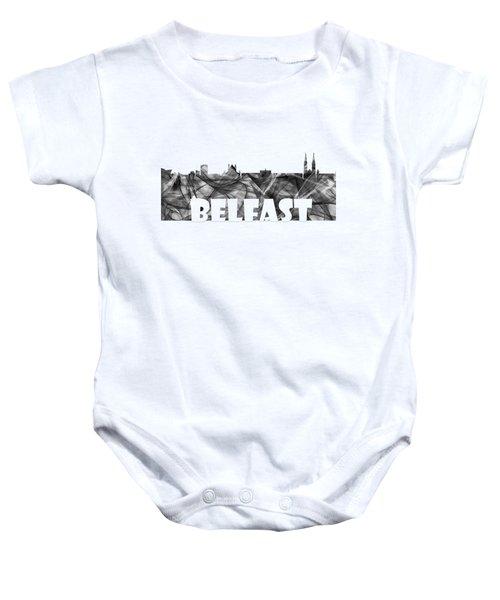 Belfast Ireland Skyline Baby Onesie