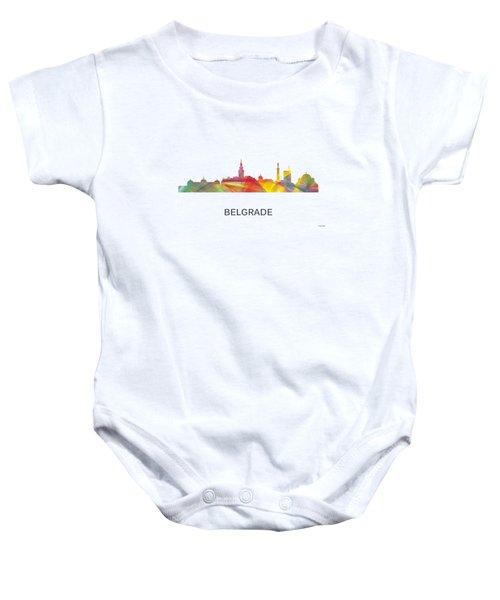Belgrade Serbia Skyline Baby Onesie