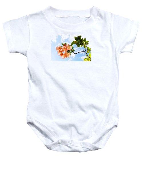 Bell Flowers In The Sky Baby Onesie