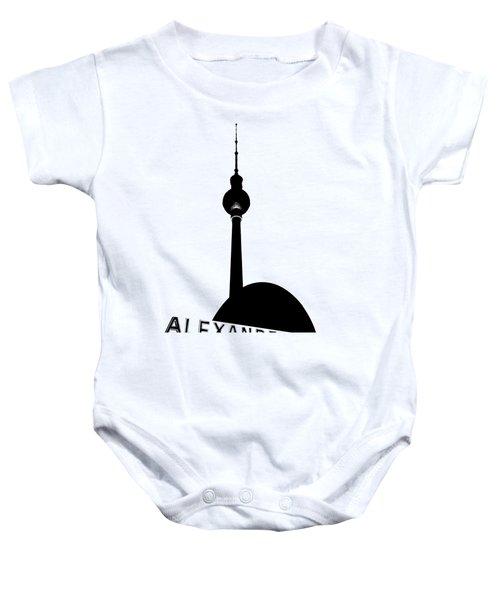 Berlin Alexanderplatz Baby Onesie by Julie Woodhouse
