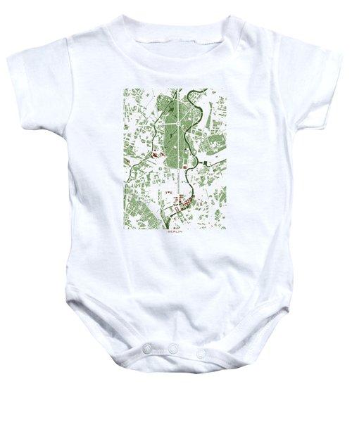 Berlin Minimal Map Baby Onesie by Jasone Ayerbe- Javier R Recco
