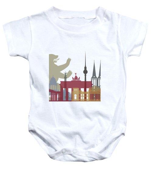 Berlin Skyline Poster Baby Onesie