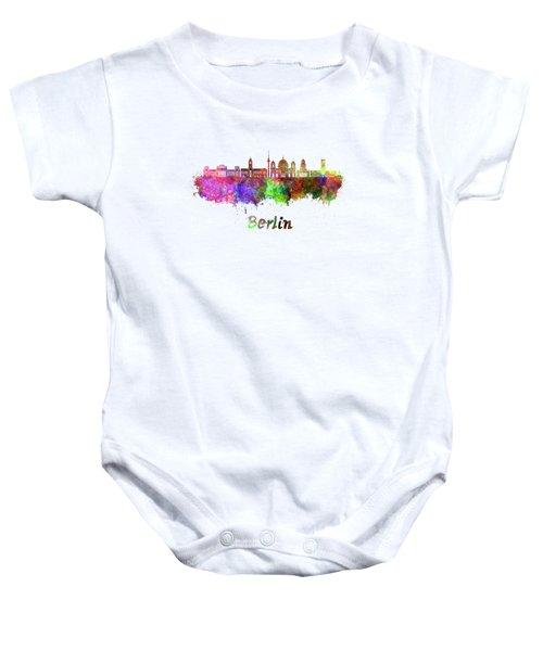 Berlin V2 Skyline In Watercolor Baby Onesie