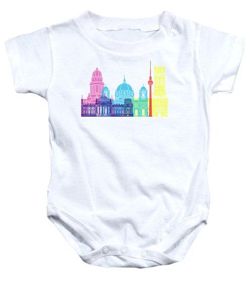 Berlin V2 Skyline Pop Baby Onesie by Pablo Romero
