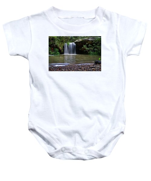 Baby Onesie featuring the photograph Berowra Waterfall by Werner Padarin