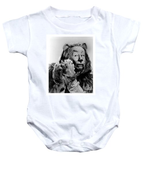 Cowardly Lion In The Wizard Of Oz Baby Onesie