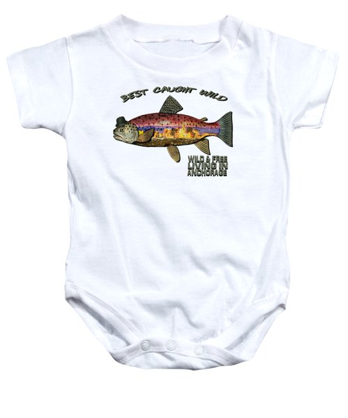 Fishing - Best Caught Wild On Light Baby Onesie