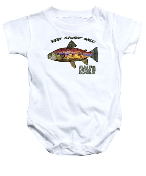 Fishing - Best Caught Wild - On Light No Hat Baby Onesie