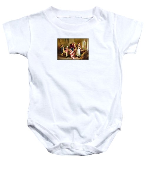 Betsy Ross And General George Washington Baby Onesie