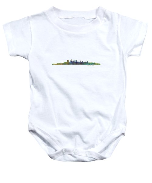 Beverly Hills City In La City Skyline Hq V1 Baby Onesie by HQ Photo
