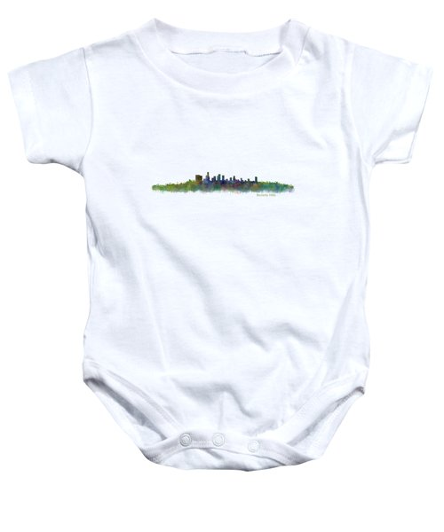 Beverly Hills City In La City Skyline Hq V2 Baby Onesie by HQ Photo