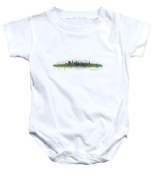 Beverly Hills City In La City Skyline Hq V3 Baby Onesie by HQ Photo