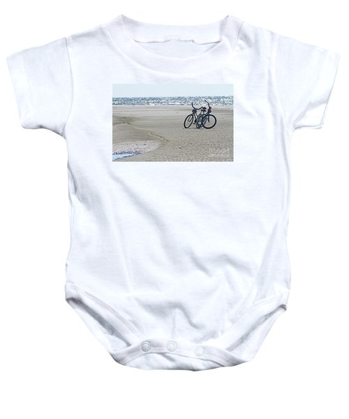 Bicycles On The Beach Baby Onesie