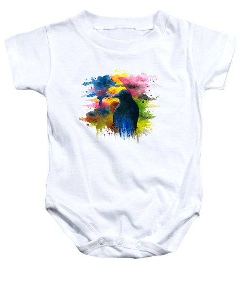 Bird 71 Crow Raven Baby Onesie