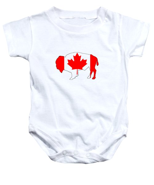 Bison Canada Baby Onesie by Mordax Furittus