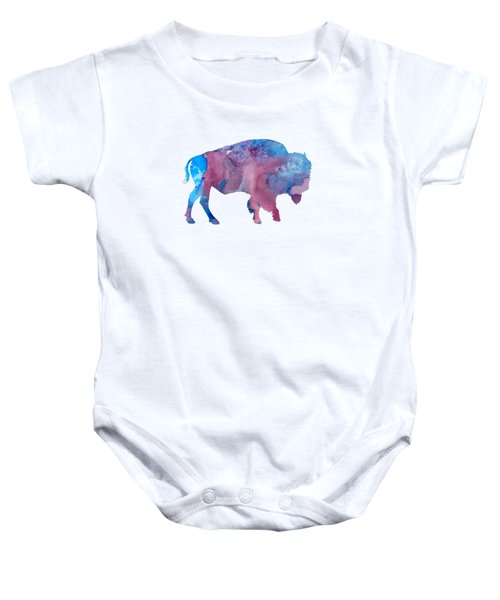 Bison Silhouette Baby Onesie