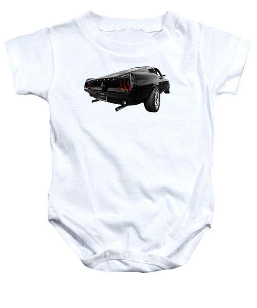 Black 1967 Mustang Baby Onesie