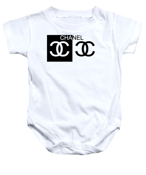 Black And White Chanel 2 Baby Onesie