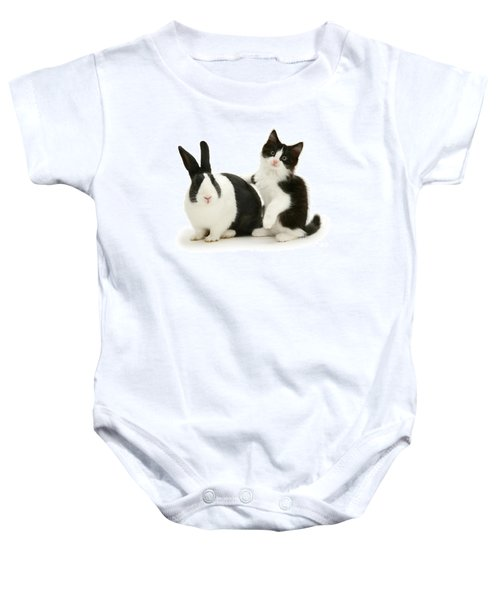 Black And White Double Act Baby Onesie