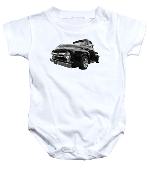Black Beauty - 1956 Ford F100 Baby Onesie
