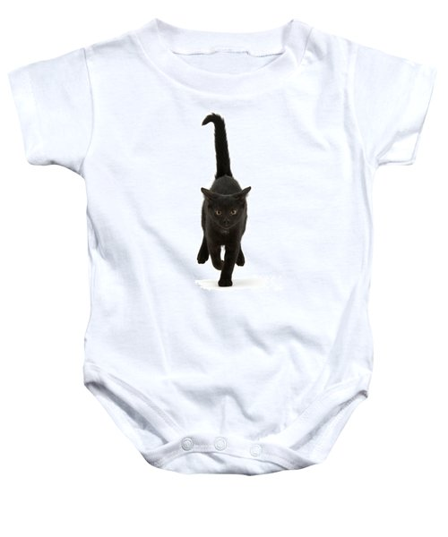 Black Cat On The Run Baby Onesie